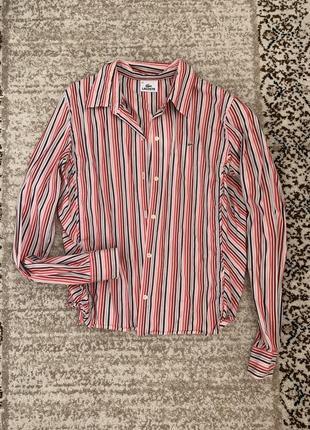 Рубашка цветная в полоску под винтаж 80-е lacoste