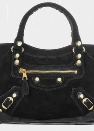 Супертрендовая статусная замшевая сумка 👜👜👜 в стиле 🌟🌟🌟balenciaga city mini италия🇮🇹🇮🇹🇮🇹