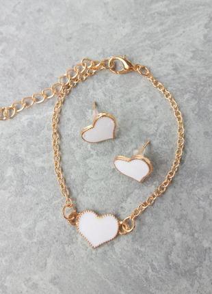Красивый и нежный набор браслет и серьги