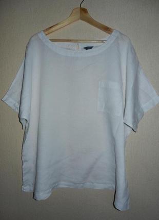 Чудесная лаконичная блуза оверсайз 100%лен