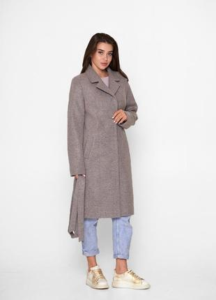 Пальто шерстяное, пудра, модель blnt 204