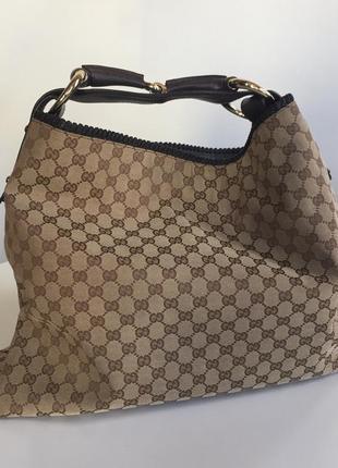 Шикарная брендовая сумка gucci horse bit с трензелем, кожа