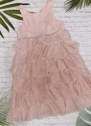 Нарядное ярусное платье h&m на 6-7 лет