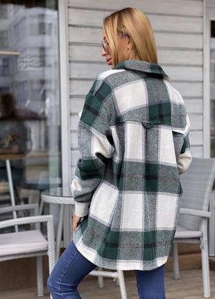 Шерстяная рубашка-пальто