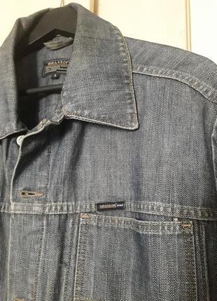 Джинсовая куртка ветровка мужская с карманами braxton