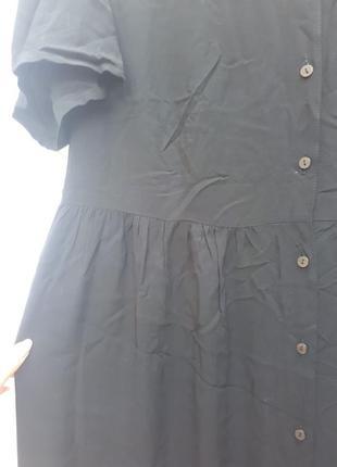 Черное платье халат