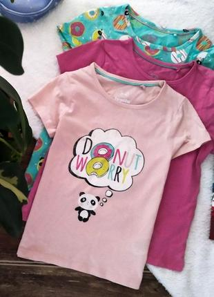 Комплект футболок lupilu из 3 шт новые 2-4 года
