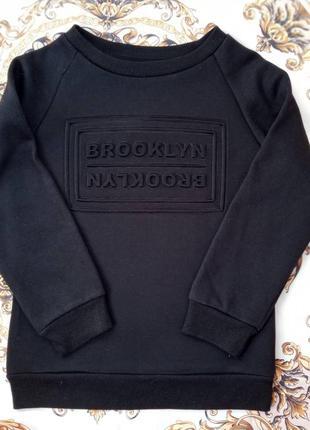 Черный свитшот джемпер  на мальчика primark 8-9 лет