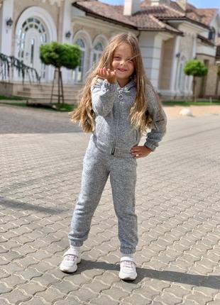 Утеплённый детский спортивный костюм ✓776