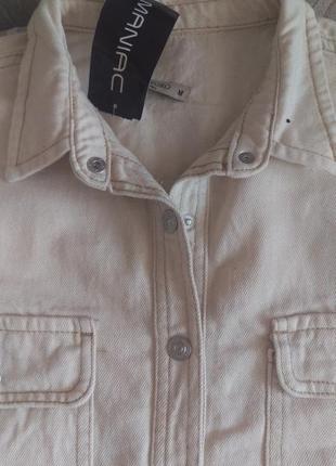 Новая куртка рубашка с накладными карманами4 фото