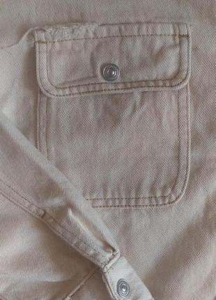 Новая куртка рубашка с накладными карманами6 фото