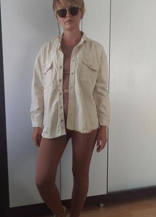 Новая куртка рубашка с накладными карманами9 фото