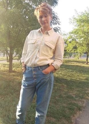 Новая куртка рубашка с накладными карманами10 фото