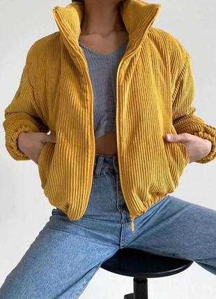 Вельветовая деми курточка
