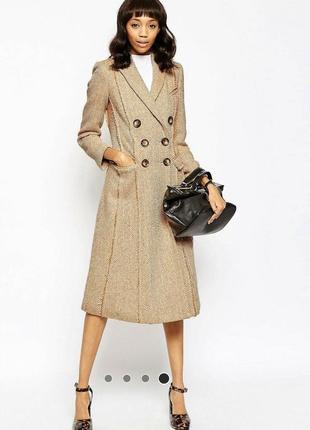 Шикарное пальто asos светло персикового цвета
