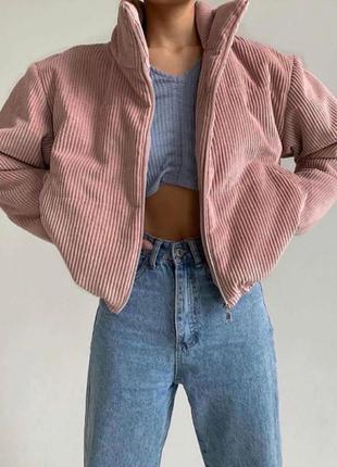 Демисезонная курточка вельвет