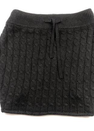 Короткая вязаная юбочка