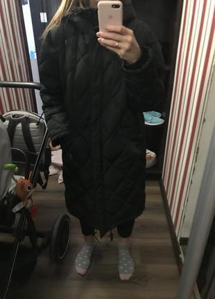 Длинная зимняя  куртка оверсайз