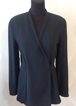 Шерстяной жакет пиджак блейзер на запах digbys