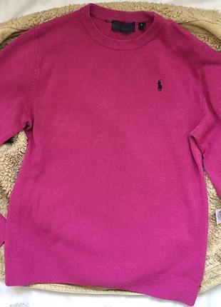 Стильный малиновый свитер , размер s - м, свитер ralph lauren