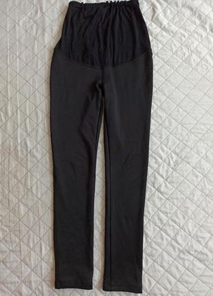 Зимние штаны леггинсы с начесом для беременных