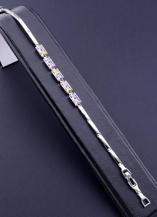 Браслет 'xuping' фианит 17 см. (родий) 0871410.