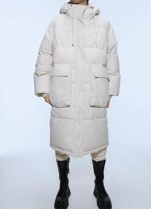 Удлиненная куртка sorona® dupont ™ zara