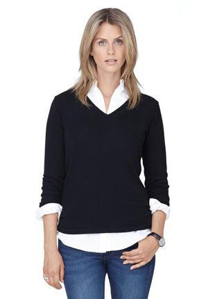 Женственный и элегантный пуловер tchibo, германия - шерсть-кашемир
