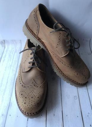 Натуральная кожа! удобные ботинки. размер 46