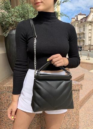 Женская сумочка. новая. черная сумка. клатч. кросс-боди.