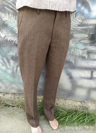 Шерстяные штаны классические 50%шерсть