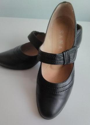 Кожаные туфли 25.5-25.6.
