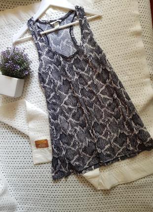 Платье туника принт рептилия h&m basic