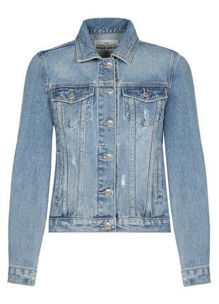 Джинсовая куртка джинсовка tally weijl светло синяя