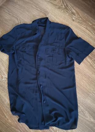 Подовжена шифонова рубашка