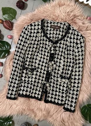 Распродажа!!! стильный твидовый пиджак №11 phase eight