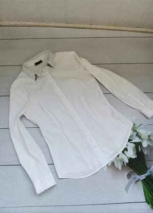 Шикарная белоснежная рубашка размер с италия