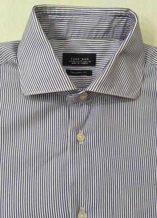 Zara мужская полосатая рубашка