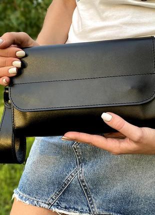 Клатч женский кожаный на магнитах hc0020