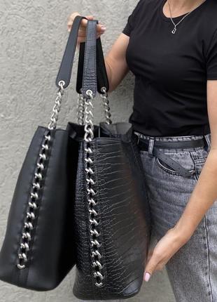 Стильна сумка-шопер з якісної екошкіри