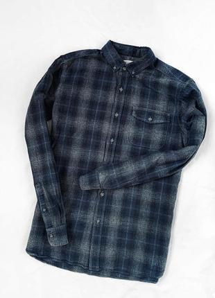 Фирменная стильная натуральная рубашка в клетку tu 100% коттон / под футболку