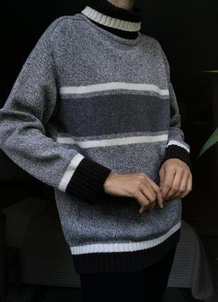 Классный свитер кофта унисекс шерсть большой размер l-xl сток
