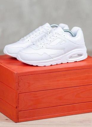 Последние! белые актуальные женские кроссовки  осень демисезон в стиле nike air max