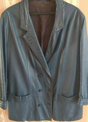 Пиджак из натурально кожи пальто