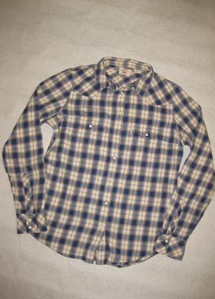 165 рост, хлопковая тёплая рубашка levis женская на кнопочках