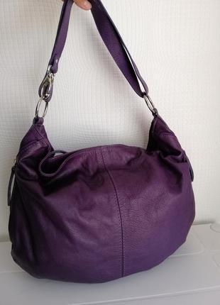 Кожаная, вместительная сумка lavorazione artigianale, италия из натуральной кожи