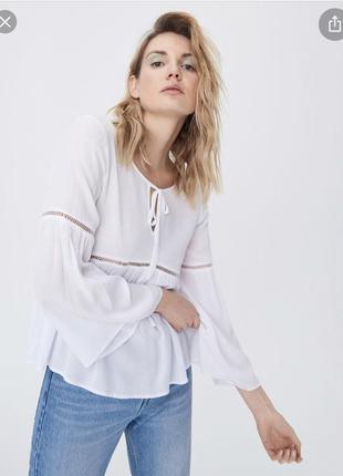 Вискозная блуза sinsay