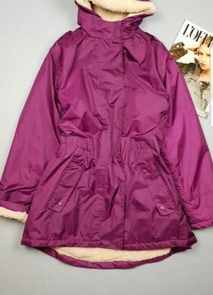 Яркая куртка парка с мехом cotton p 16/44