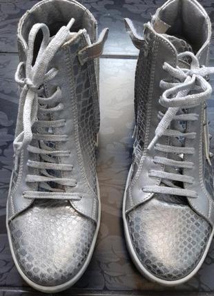 Vera pelle серебристые кеды кроссовки для супер- звезды