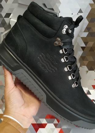 Шикарные мужские демисезонные ботинки на змейке,кожа, качество, размер 45.